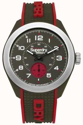 Superdry Navigator Military Red And Green Two Tone Case Rubber Strap SYG214N