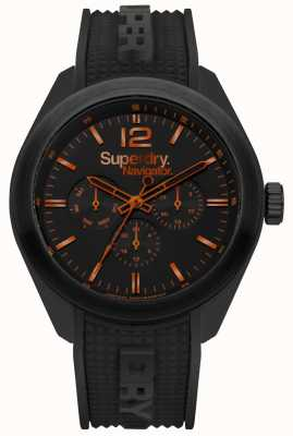 Superdry Navigator Posh Black Orange Highlights SYG215BB