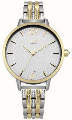 Lipsy Rose Gold Sunray Crystal Set Dial Crystal Set Rose Bracelet LP533