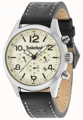 Timberland Ashmont Black Leather Strap Cream Multi 15249JS/07