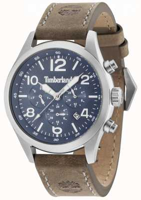Timberland Ashmont Blue Multi Dial Brown Leather Strap 15249JS/03