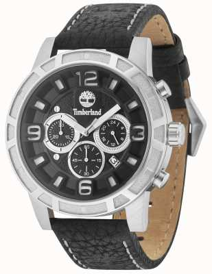 Timberland Maynard Black Leather Strap Black Multi Dial 15251JS/02
