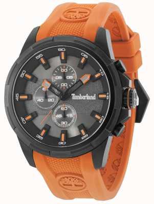 Timberland Boxford Orange Silicone Strap Gun Metal Grey Dial 15253JSB/61P