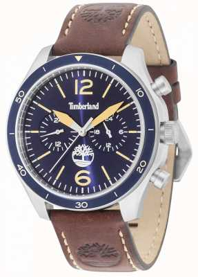 Timberland Gloucester Blue Dial Brown Leather Strap 15255JS/03