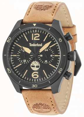 Timberland Gloucester Black Dial Tan Leather Strap 15255JSB/02