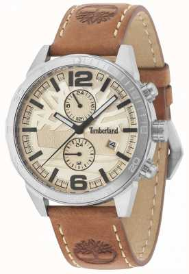 Timberland Sagamore Cream Dial Tan Leather Strap 15256JS/07