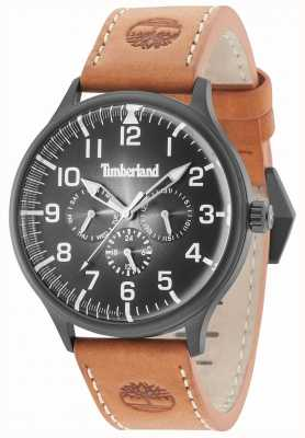 Timberland Blanchard Black Dial Brown Leather Strap 15270JSB/02