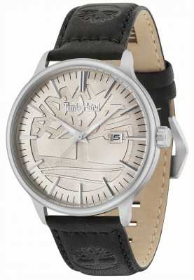 Timberland Edgemont Beige Dial Black Leather Strap 15260JS/11