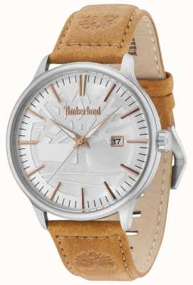 Timberland Edgemont Silver Dial Tan Leather Strap 15260JS/04