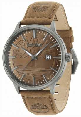 Timberland Edgemont Brown Dial Brown Leather Strap 15260JSU/12