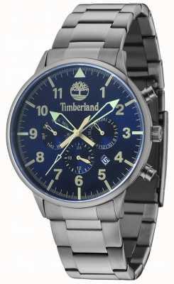 Timberland Spaulding Blue Multi Dial Gun Metal Bracelet 15263JSU/03M