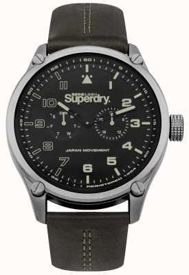 Superdry Khaki Leather Strap With Khaki Tinted Dial SYG208BN