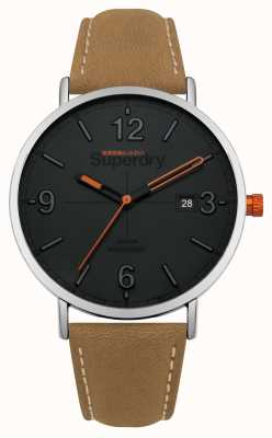 Superdry Tan Leather Strap Grey Dial SYG190T