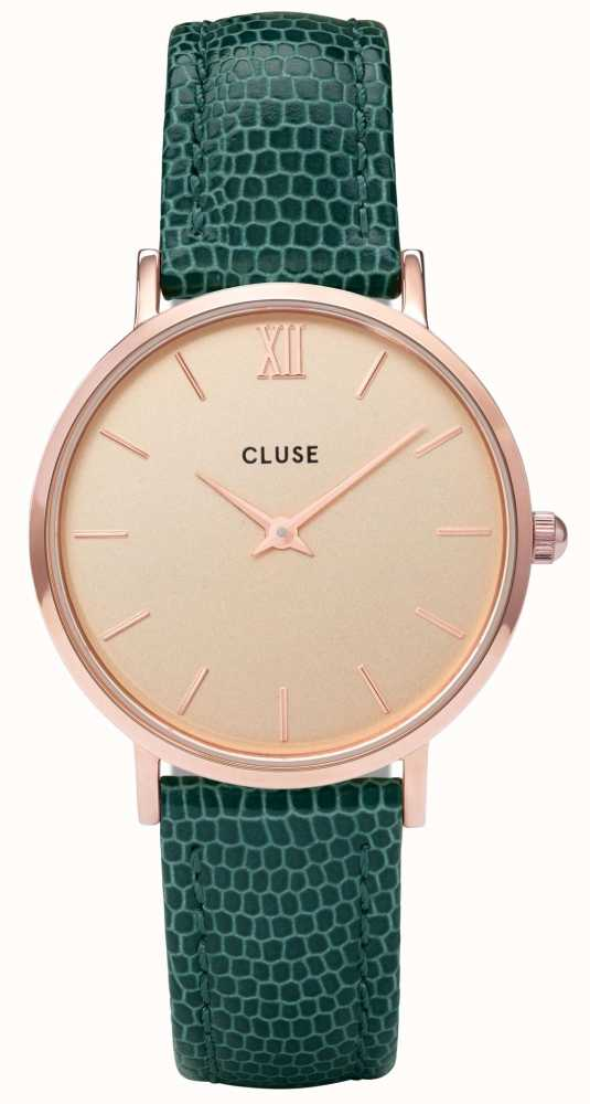 Cluse Minuit Rose Gold Case With Champagne Dial And
