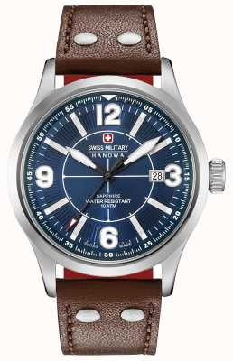 Swiss Military Hanowa Undercover Dark Blue Dial Dark Brown Leather Strap 06-4280.04.003.10SI