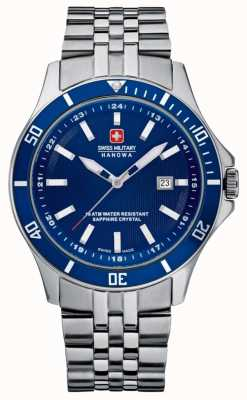 Swiss Military Hanowa Flagship Stainless Steel Bracelet Blue Dial 6-5161.2.04.003