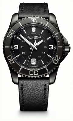 Victorinox Swiss Army Maverick Large Black Edition Black Dial Black Leather Strap 241787
