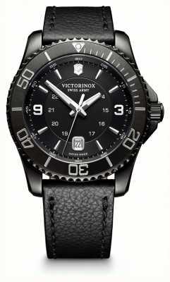Victorinox Swiss Army Maverick Large Black Edition Black Dial Black Leather Strap 241787