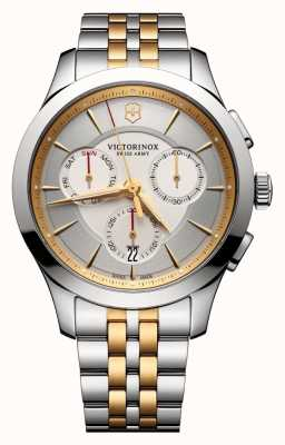 Victorinox Swiss Army Alliance Chronograph Silver Two Tone Dial & Bracelet 241747