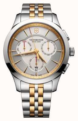 Victorinox Swiss Army Alliance Chronograph Silver Two Tone Dial & Bracelet 241747