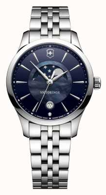 Victorinox Swiss Army Alliance Small Moon Phase Blue Dial Bracelet 241752