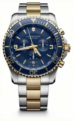 Victorinox Swiss Army Maverick Chronograph Two Tone Blue Bezel Blue Dial 241791
