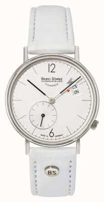 Bruno Sohnle Womans Rondo 33mm Stainless Steel White Dial Date Display 17-13192-263