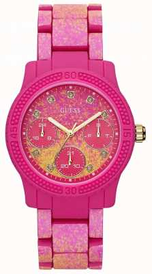 Guess Womens Funfetti Pink Watch W0944L3