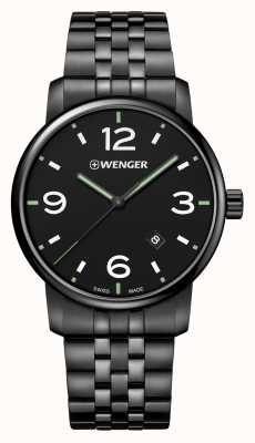 Wenger Urban Metropolitan 42mm Black PVD Dial Black Bracelet 01.1741.119