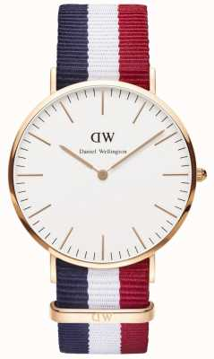 Daniel Wellington Mens Classic Cambridge 40mm Rose Gold DW00100003