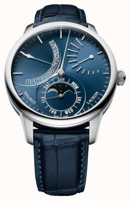 Maurice Lacroix Masterpiece Retrograde Moon Day Date Display Automatic MP6528-SS001-430-1