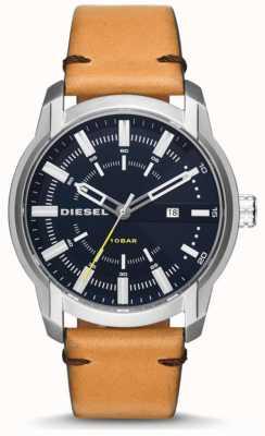 Diesel Mens Armbar Light Tan Leather Strap DZ1847