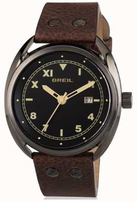 Breil Beaubourg Stainless Steel IP Gun Grey Black Dial TW1670