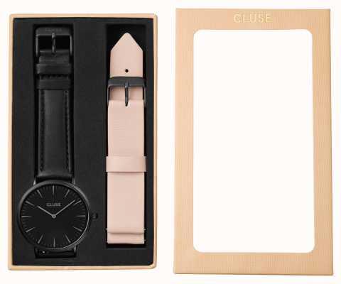 CLUSE La Boheme Gift Set Black Case Nude Strap CLA002