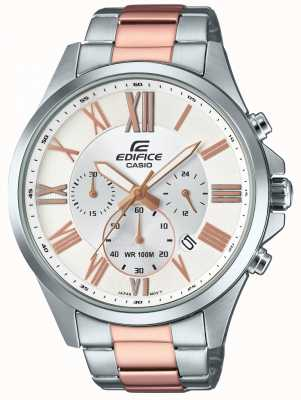 Casio Mens Edifice Two Tone Chronograph EFV-500SG-7AVUEF