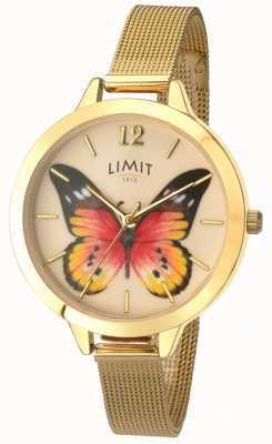 Limit Womens Secret Garden gold mesh butterfly watch 6276.73