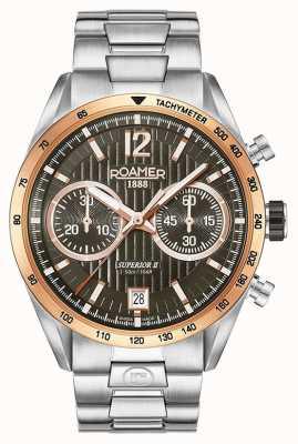 Roamer Mens Superior Chrono II Silver Bracelet Watch 510902496450