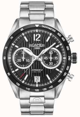 Roamer Mens Superior Chrono II Silver Bracelet Watch 510902415450