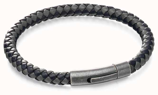 Fred Bennett Blue Grey Leather Bracelet B5062