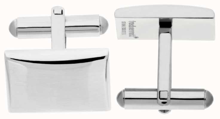 Fred Bennett Men's Stainless Steel Rectangle Cuff Links V509