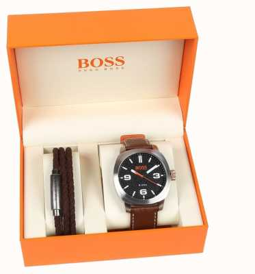 Hugo Boss Orange Mens Capetown Watch And Bracelet Gift Set 1570051