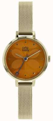 Orla Kiely Pale Gold Case Orange Sunray Dial OK4066