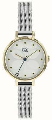 Orla Kiely Ivy Mesh Bracelet Gold Tone Case OK4065