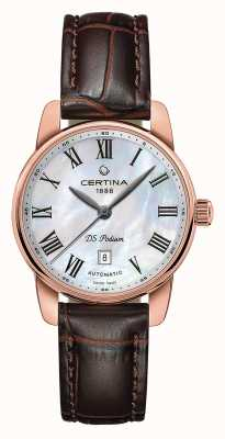 Certina | DS Podium | Lady Automatic | Brown Leather Rose Gold | C0010073611300
