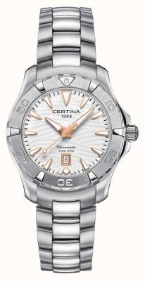 Certina Womens Ds Action 300m Stainless Steel Watch C0322511101101