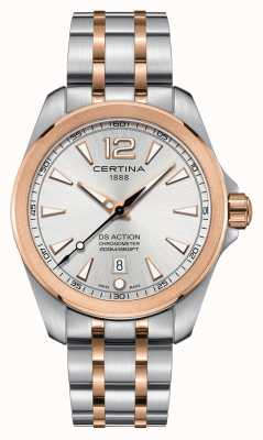 Certina Mens Ds Action Chronometer Watch | Stainless Steel Strap | C0328512203700