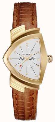 Hamilton Womens Ventura Gold Cased Watch H24101511