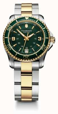 Victorinox Swiss Army Womens Maverick Green Dial Stainless Steel Bracelet 241612