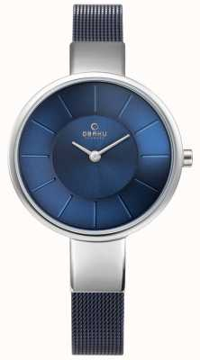 Obaku Womens Sol Watch Blue Mesh V149LXCLML