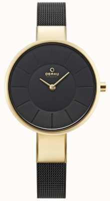 Obaku Womens Sol Watch Black Mesh V149LXGBMB